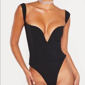 Pretty Little Thing Bardot V bar Bodysuit